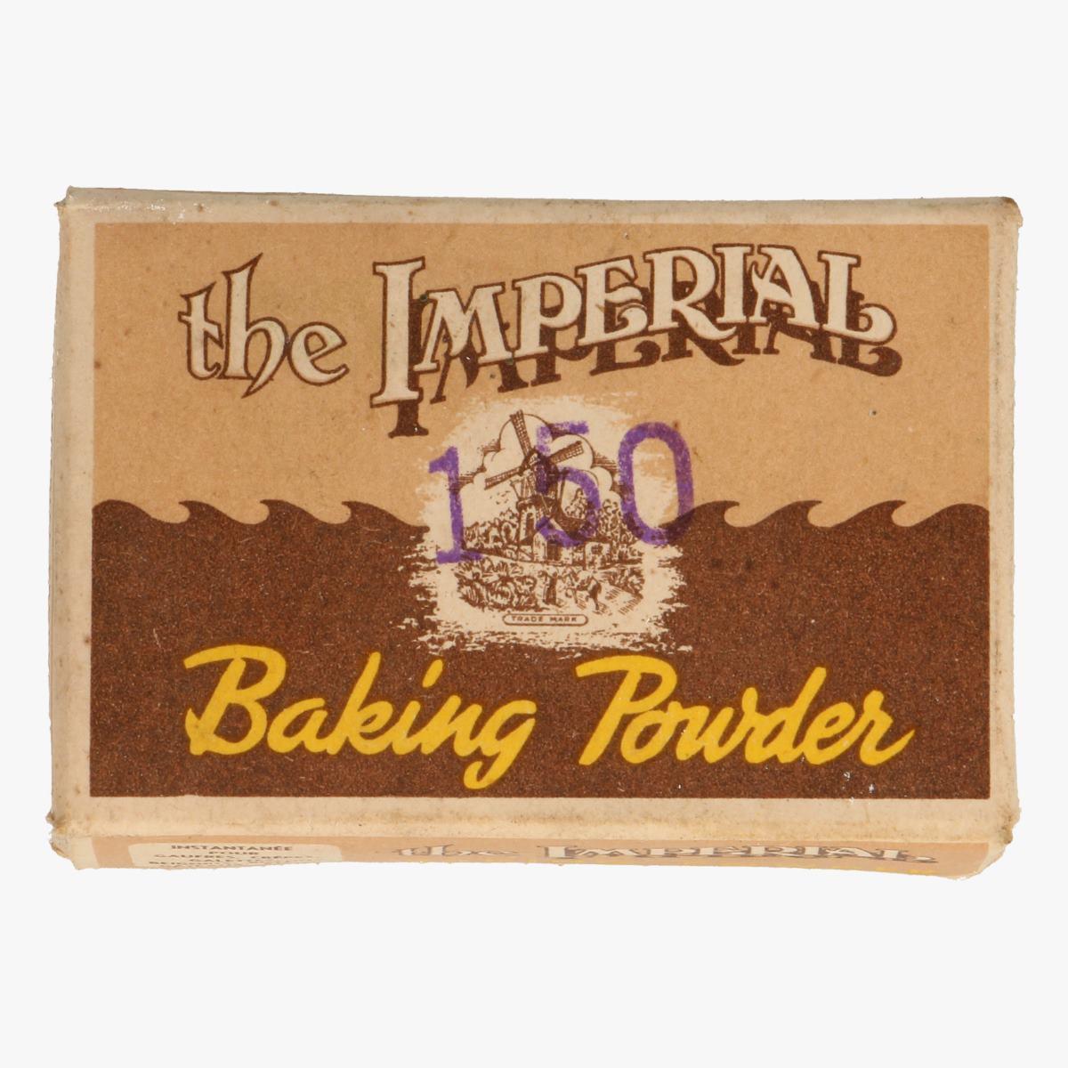 Afbeeldingen van oud doosje the imperial baking powder