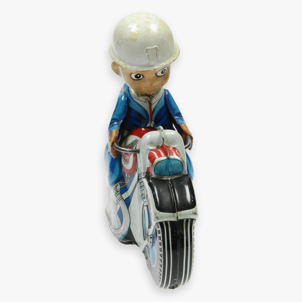 Afbeeldingen van tin toys motorcycle haji made in Japan