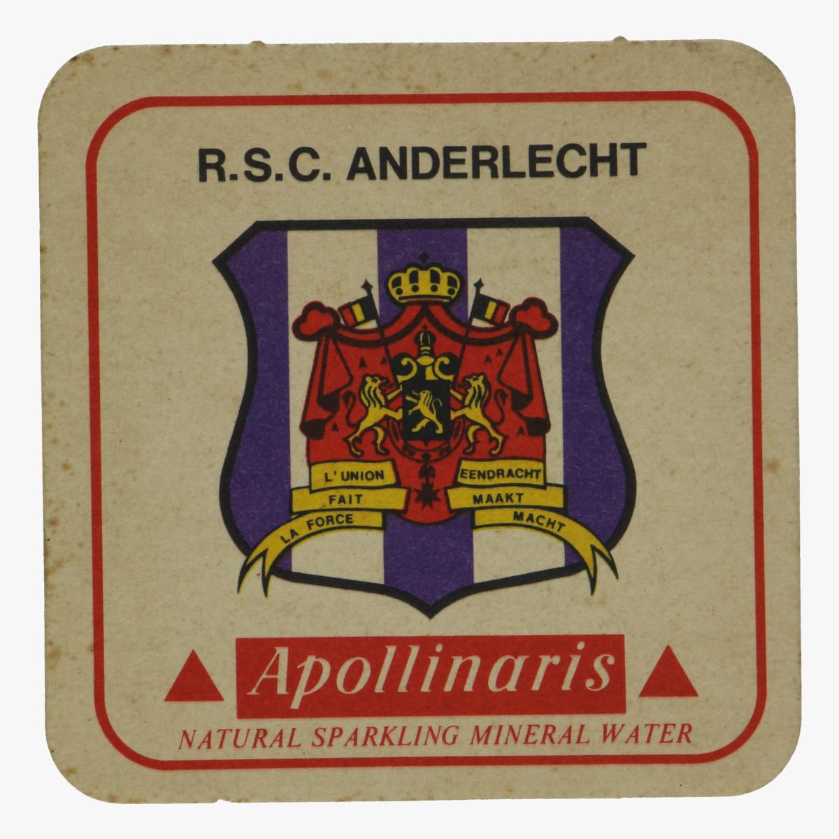 Afbeeldingen van bierkaart r.s.c. anderlecht apollinaris