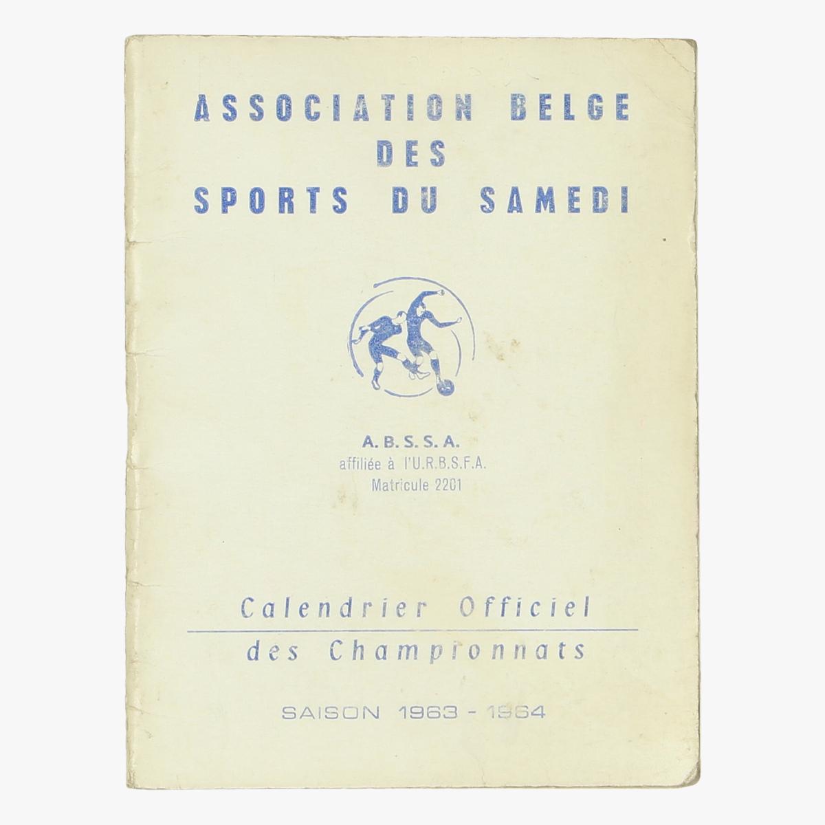 Afbeeldingen van A.B.S.S.A calendrier officiel des championnats 1963-1964
