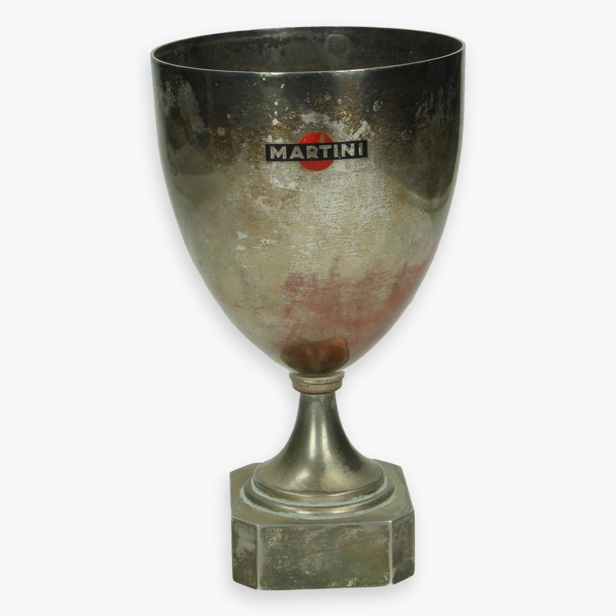 Afbeeldingen van oude sport trofee '' martini '' logo op trofee zeldzaam