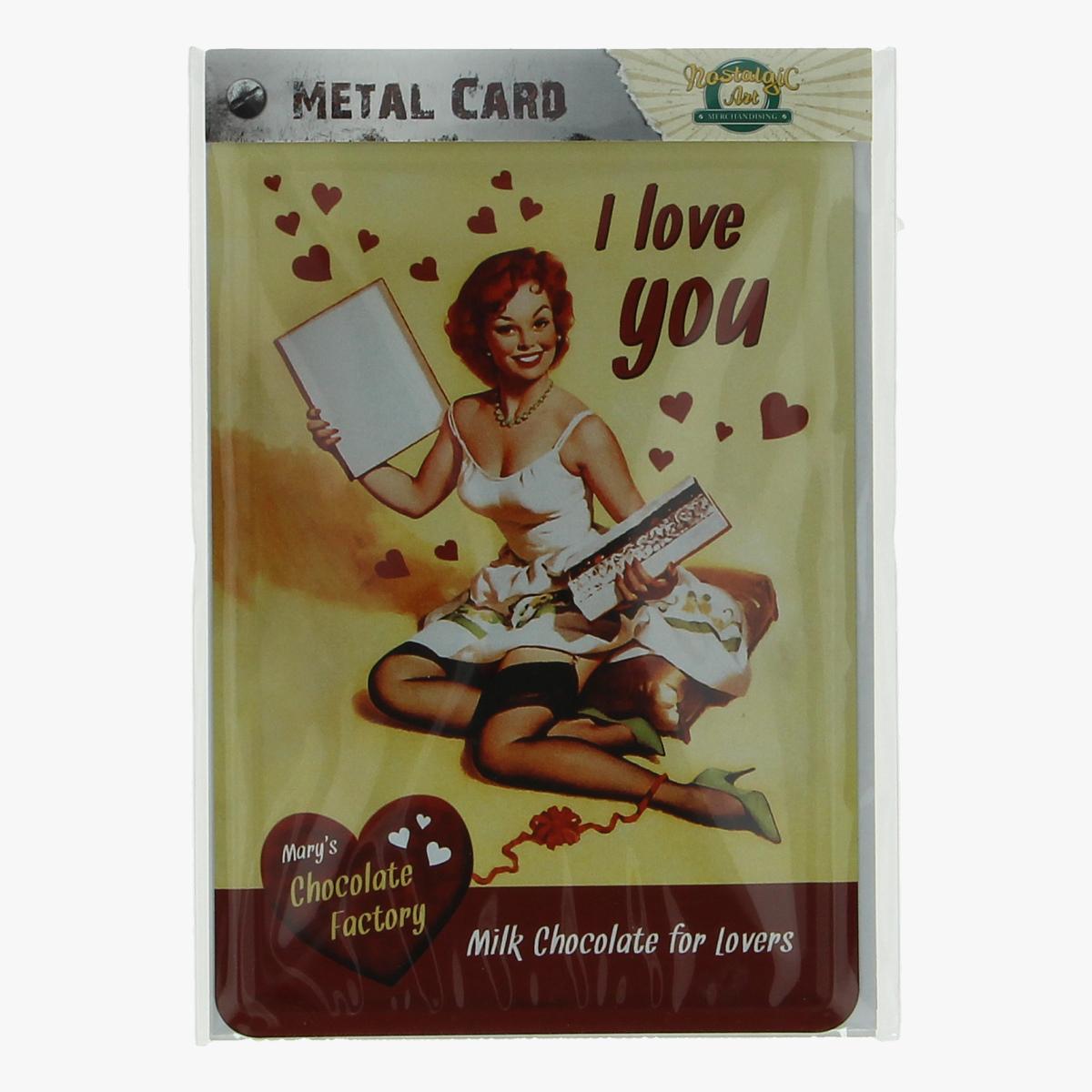 Afbeeldingen van metal card i love you