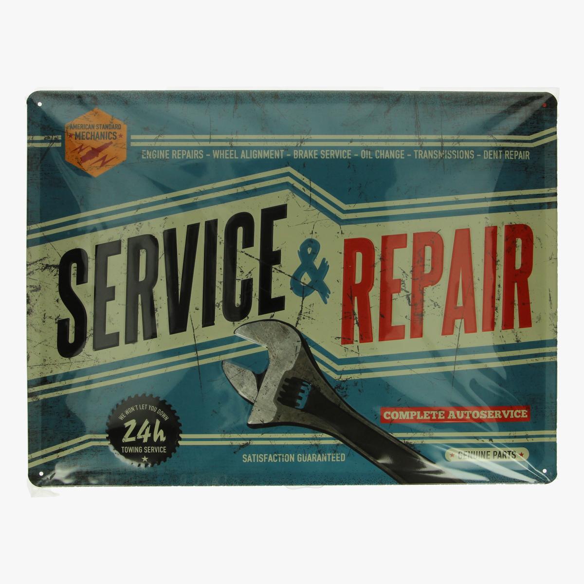Afbeeldingen van blikken bord service repair geseald