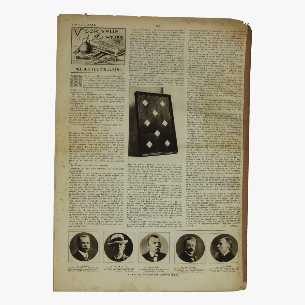 Afbeeldingen van oude weekblad panorama N°33 22 april 1915