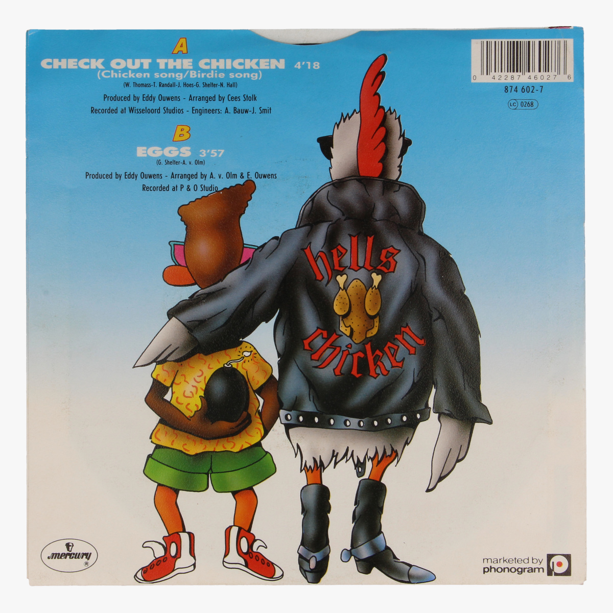 Afbeeldingen van Grandmaster chicken & D.J. Duck, Check out the chicken LP 45 toeren