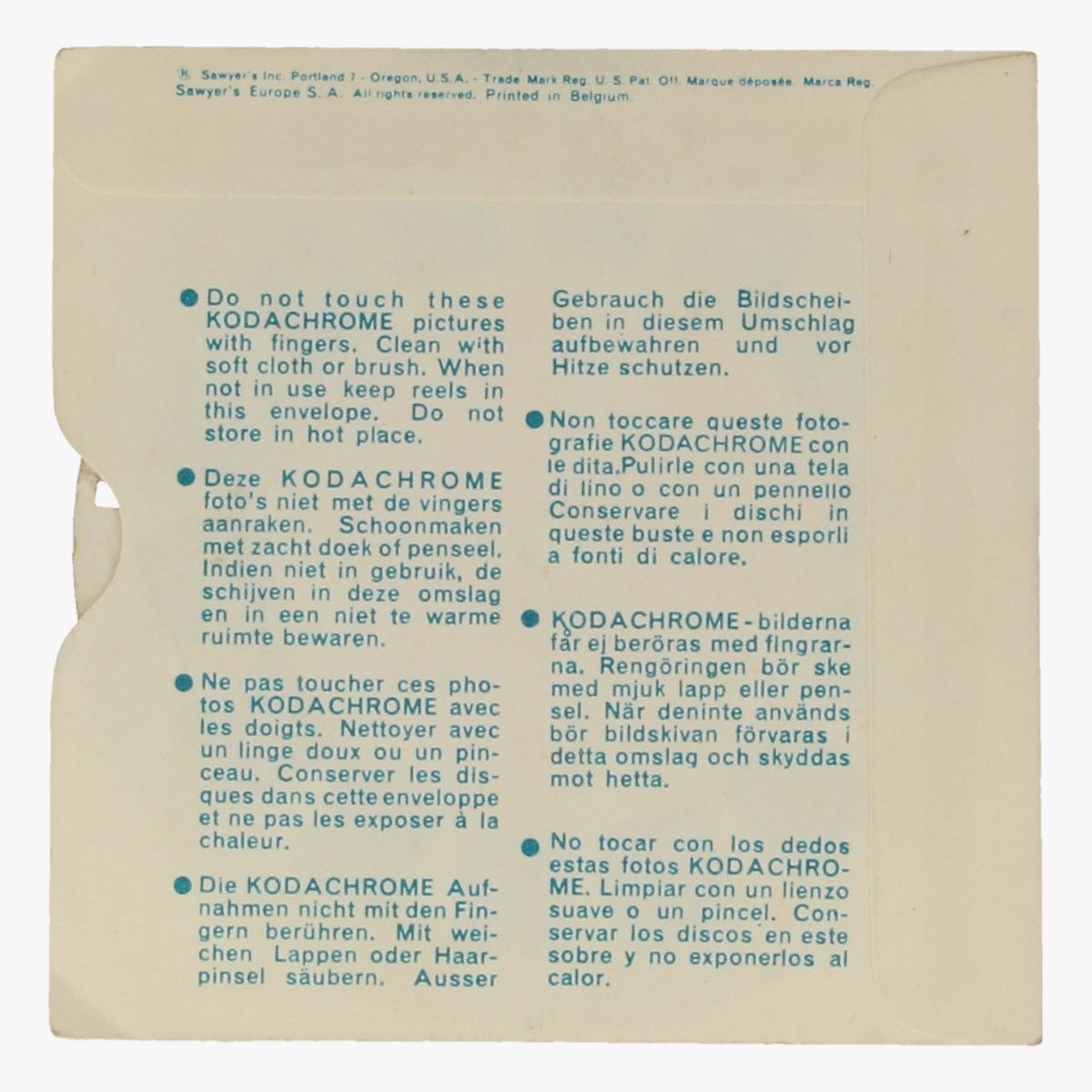 Afbeeldingen van View-Master Kuifje. De Zonnetempel. Nr. B 5422. Beeldschijf 2
