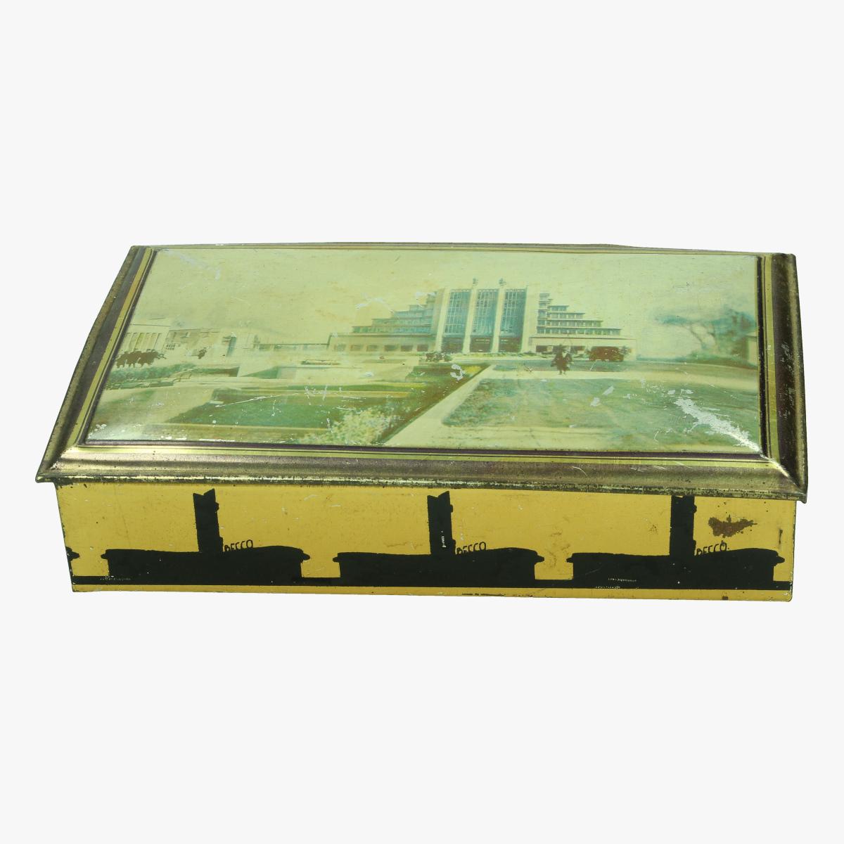 Afbeeldingen van expo 58 blikken doos confiserie becco namur