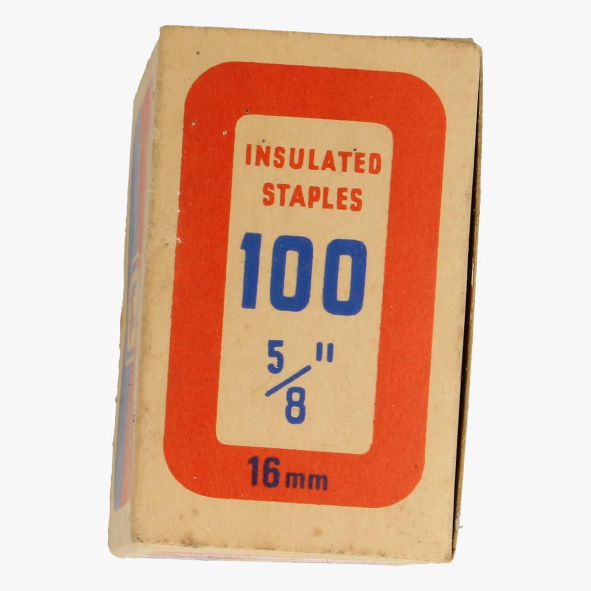 Afbeeldingen van doosje tower brand insulated staples made in england 16mm
