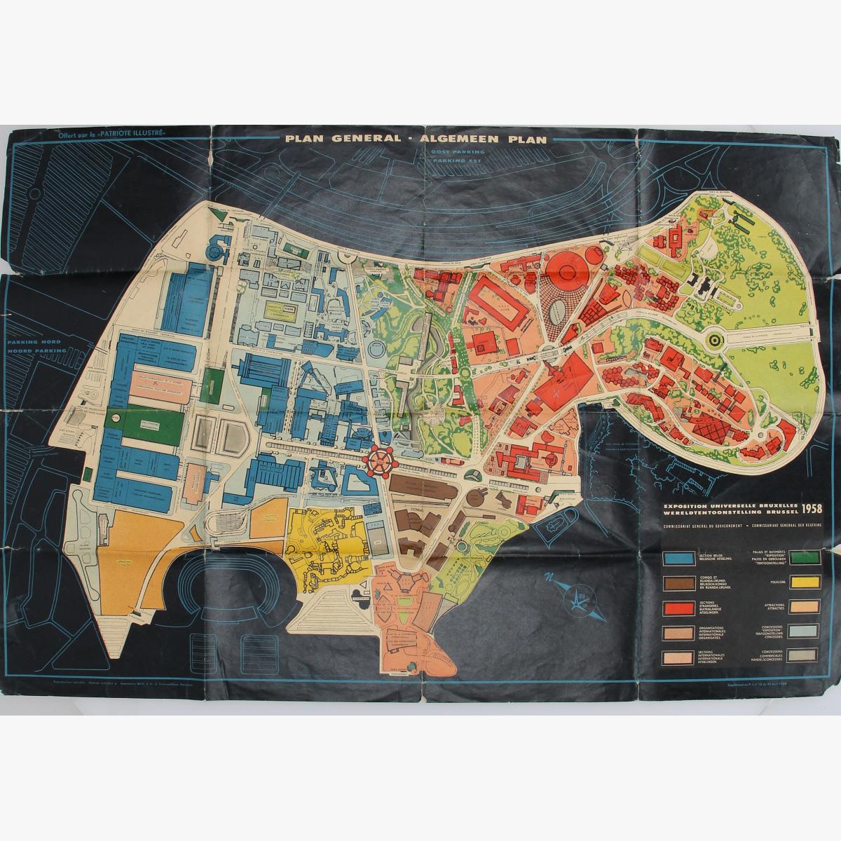 Afbeeldingen van expo 58 algemeen plan  wereldtentoonstelling brussel 1958