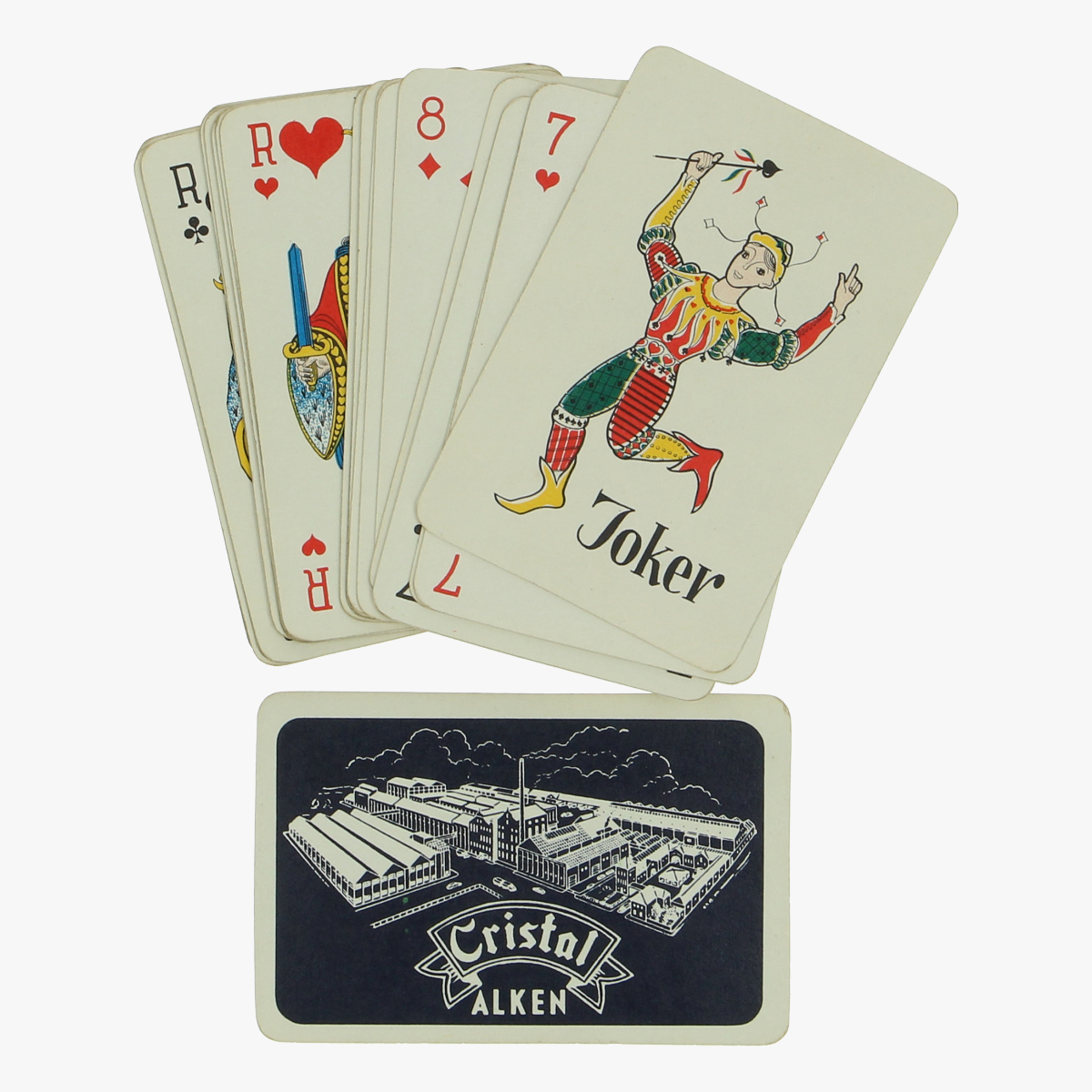 Afbeeldingen van oud spel speelkaarten Cristal Alken
