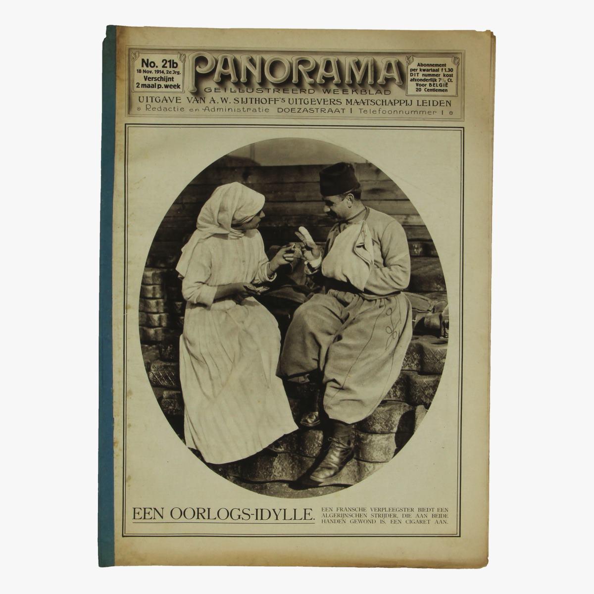 Afbeeldingen van oude weekblad panorama N°21b   18 nov. 1914