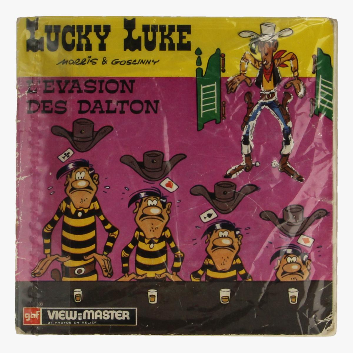 Afbeeldingen van View-Master Lucky Luke. L'evasion des Dalton. Morris&Goscinny. Nr. B-455-F