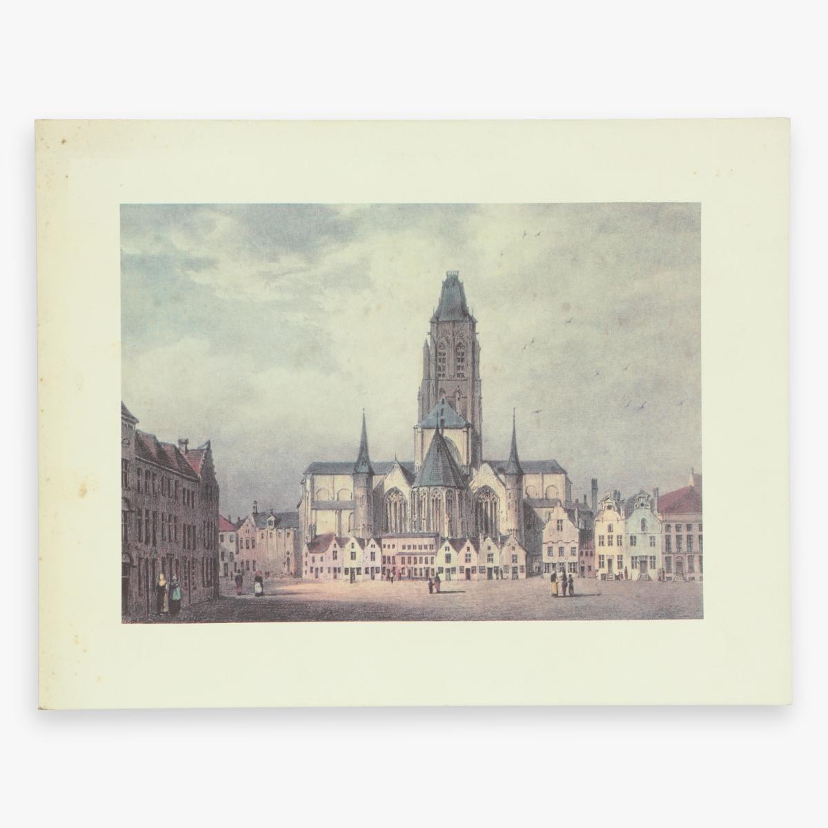 Afbeeldingen van sabena drank en spijzen kaart Brussel - New York - Oudenaarde . De Sint Walburgiskerk