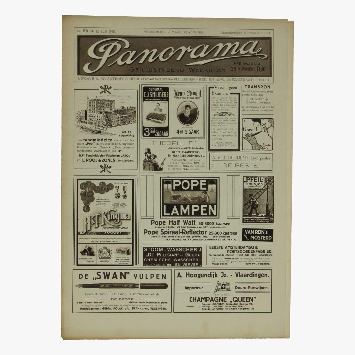 Afbeeldingen van oude weekblad panorama N°56   12 juli 1915.