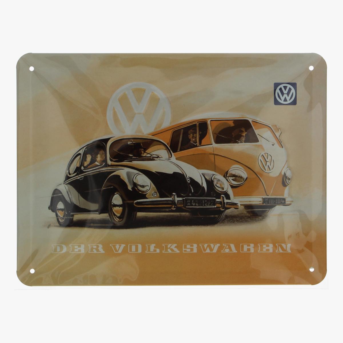 Afbeeldingen van blikken bordje der volkswagen