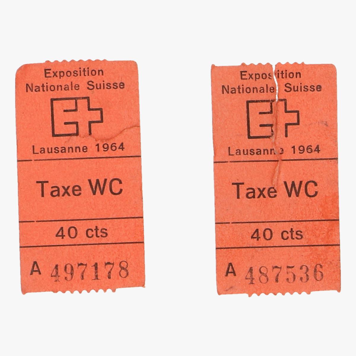 Afbeeldingen van expostition nationale suisse 1964 tax wc