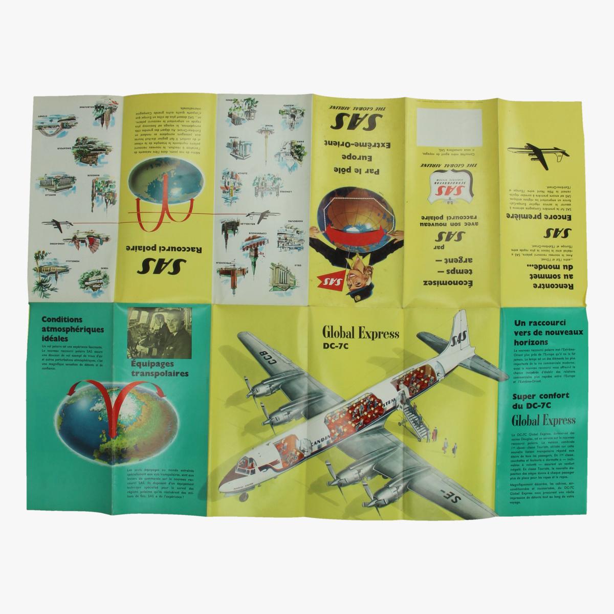 Afbeeldingen van folder sas global airline scandinavian airlines system