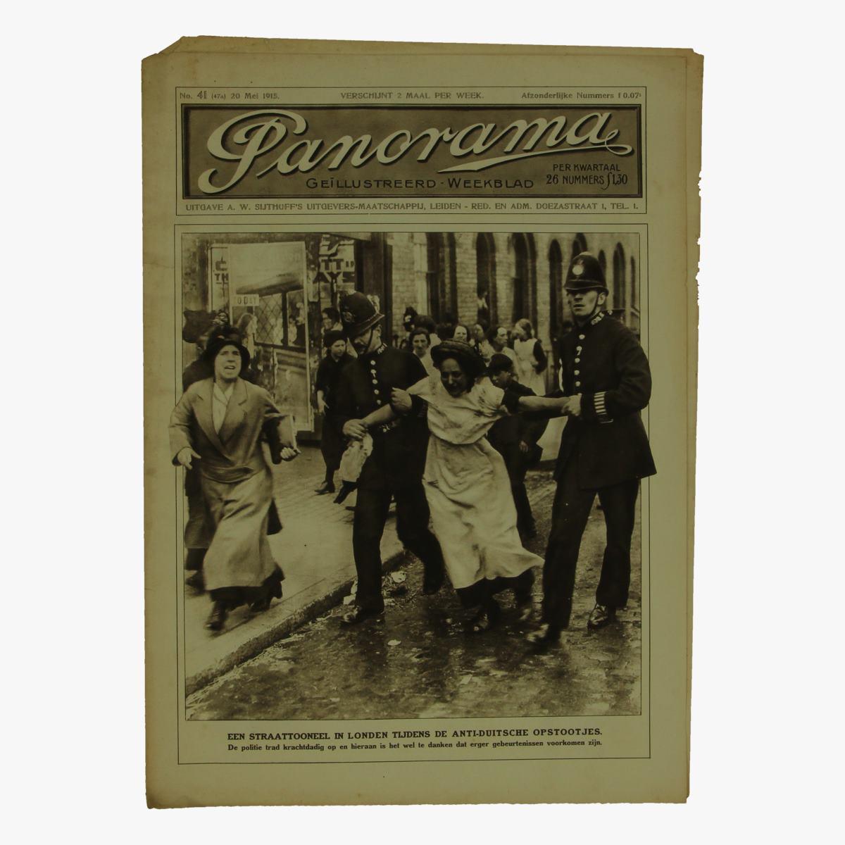 Afbeeldingen van oude weekblad panorama N°41  20 mei 1915