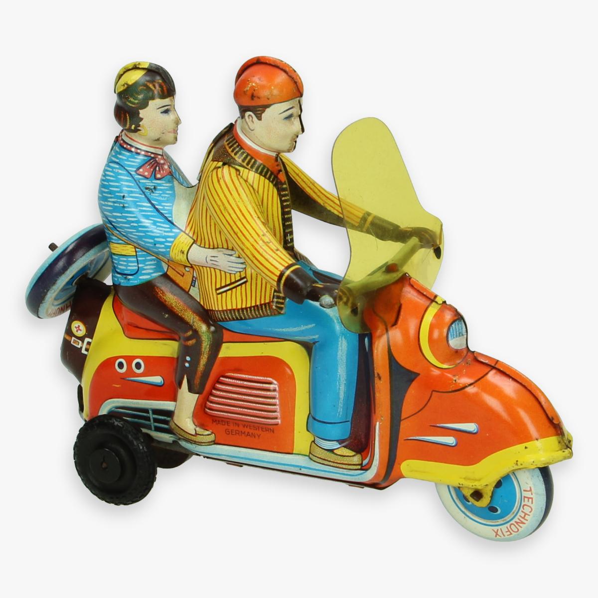 Afbeeldingen van technofix scooter 282 jaren 50 made in western germany zeldzame oranje versie