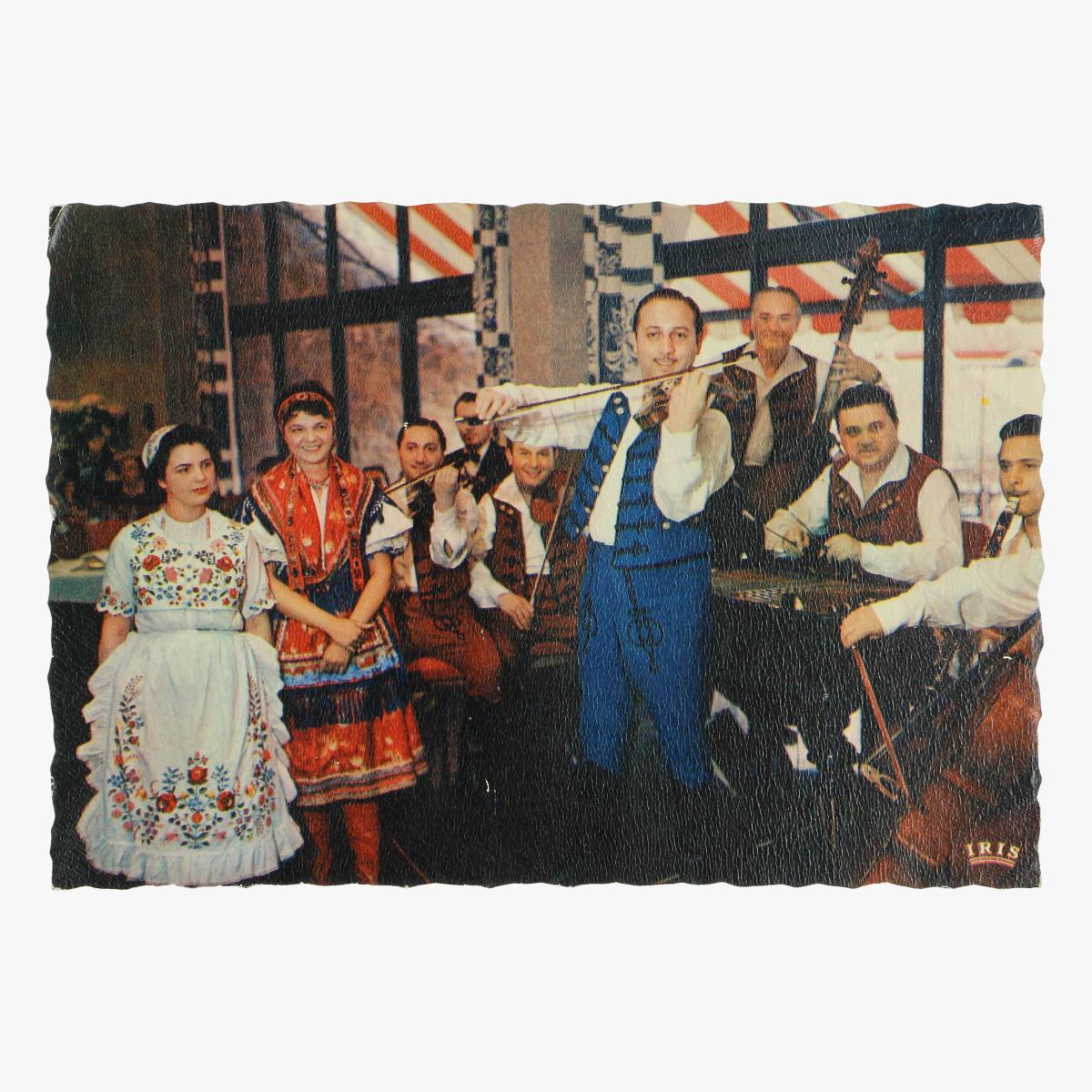 Afbeeldingen van expo 58 postkaart hongarije sandor lakatos en zijn tzigeuners 1958