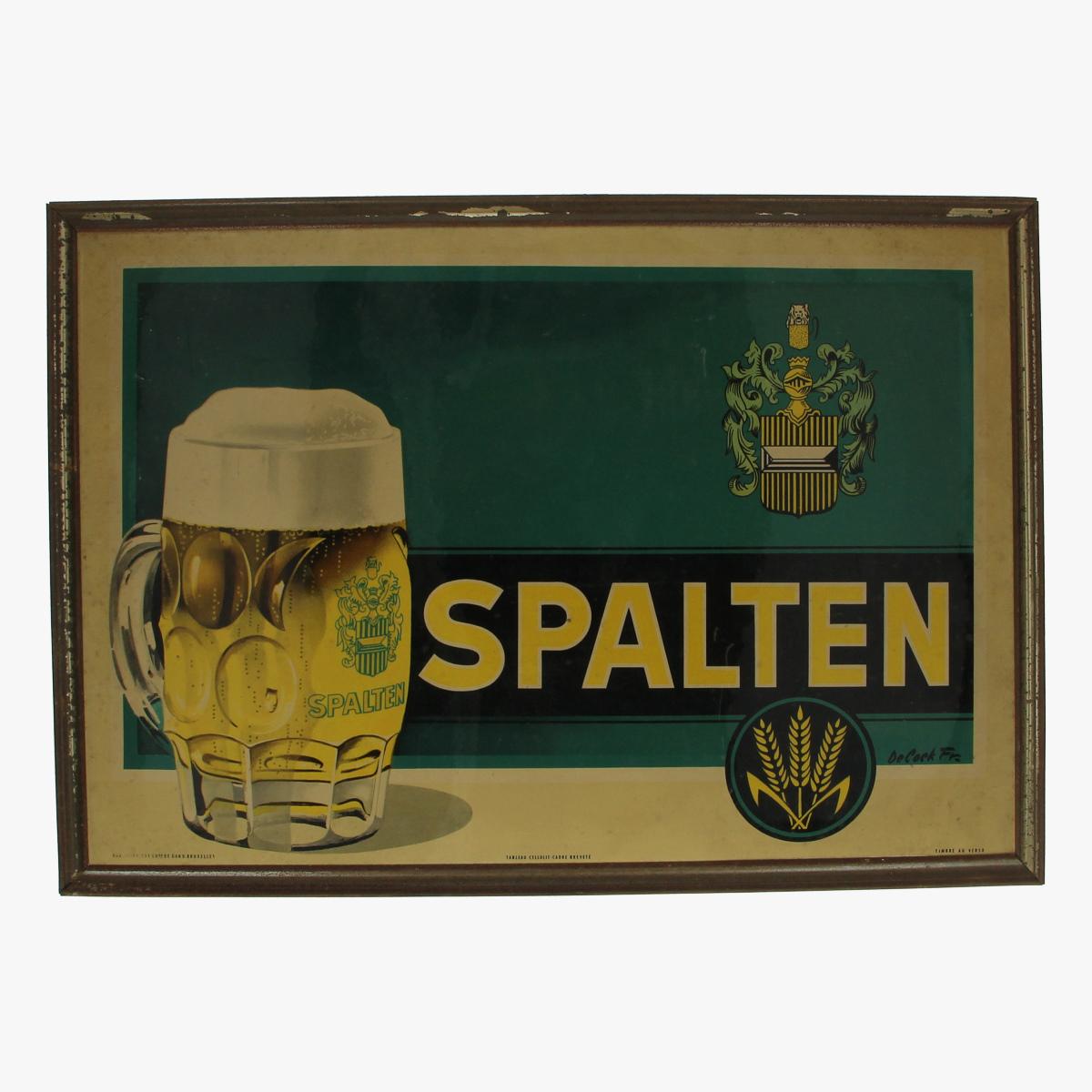 Afbeeldingen van reclame bier pancartes met kader spalten de cock fr. tableau cellulit-cadre breveté timbre au verso