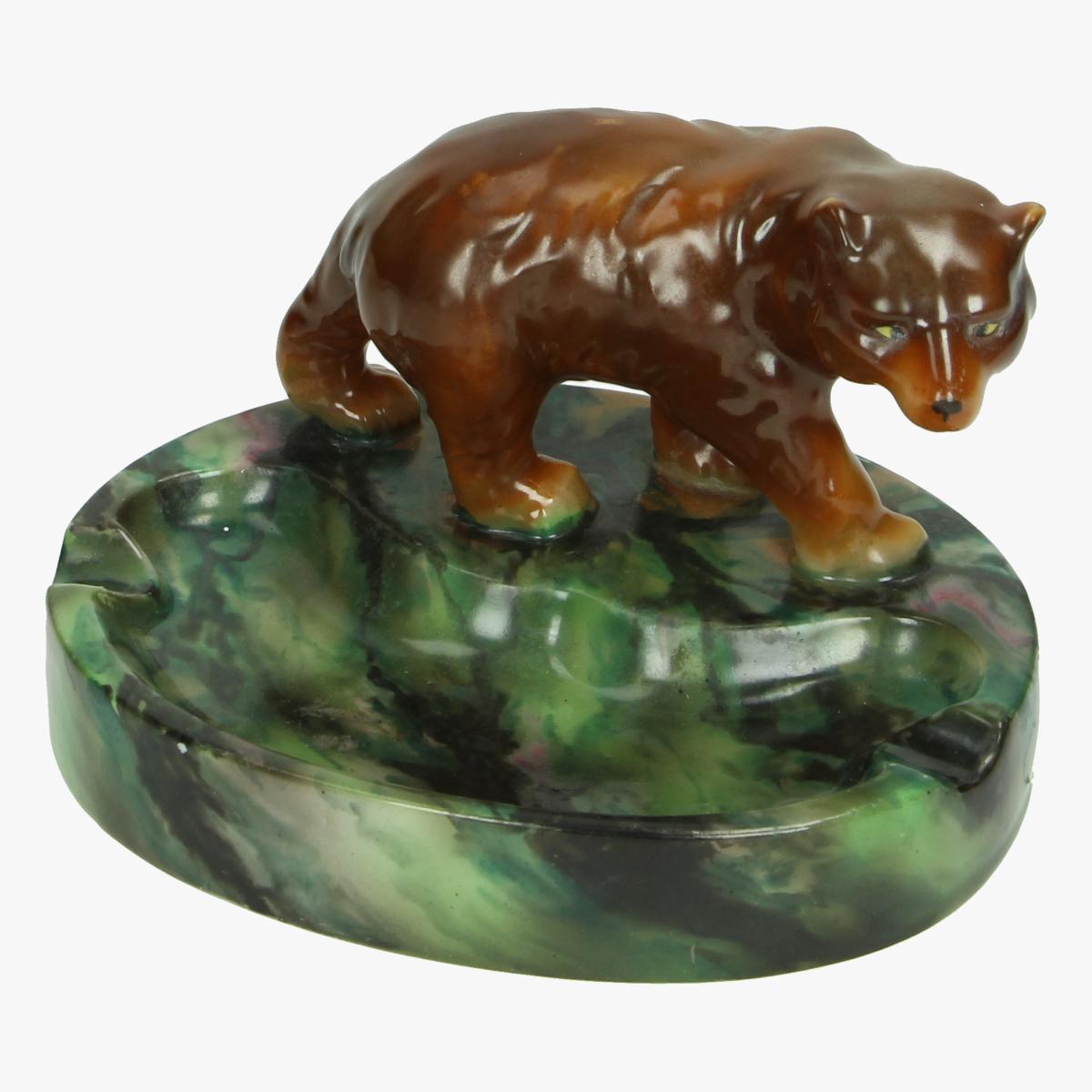 Afbeeldingen van Asbak beer keramiek Japan