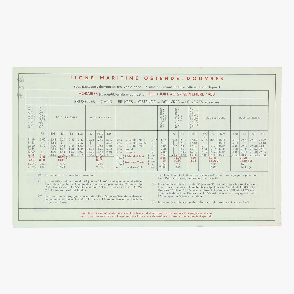 Afbeeldingen van expo 58 folder oostende douvres