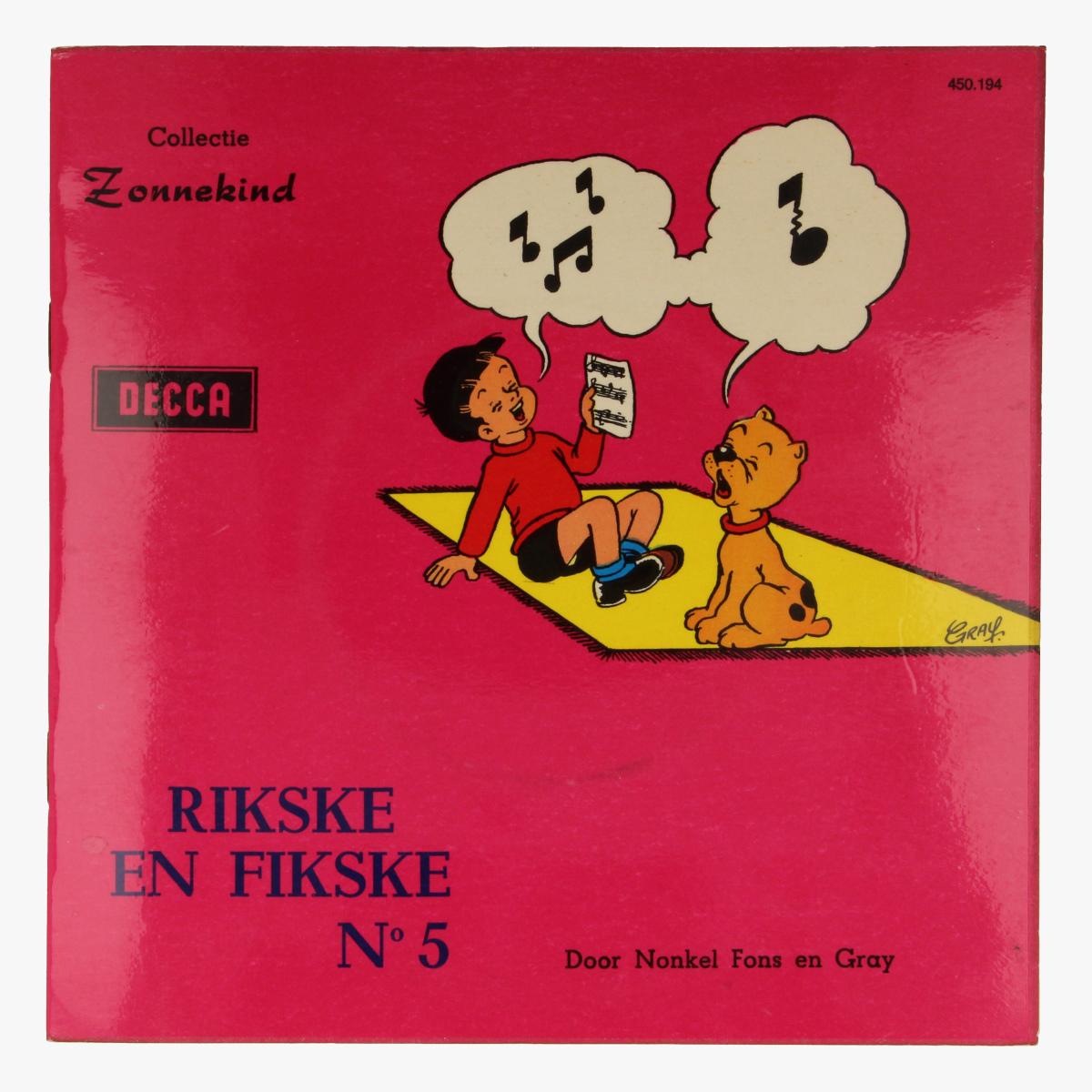 Afbeeldingen van kleine LP Rikske en Fikske nr 5
