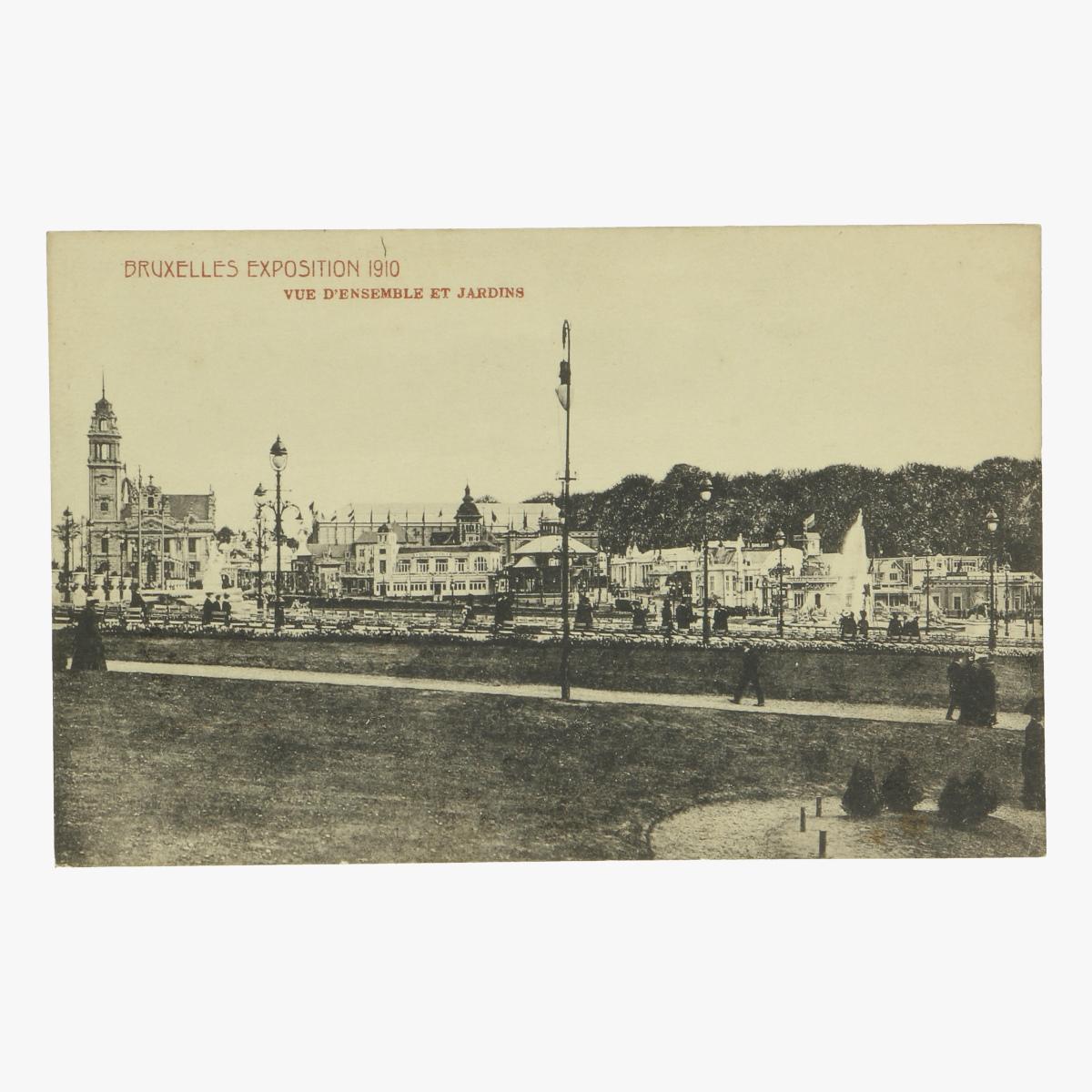 Afbeeldingen van postkaart bruxelles exposition 1910 vue d' ensemble et jardins