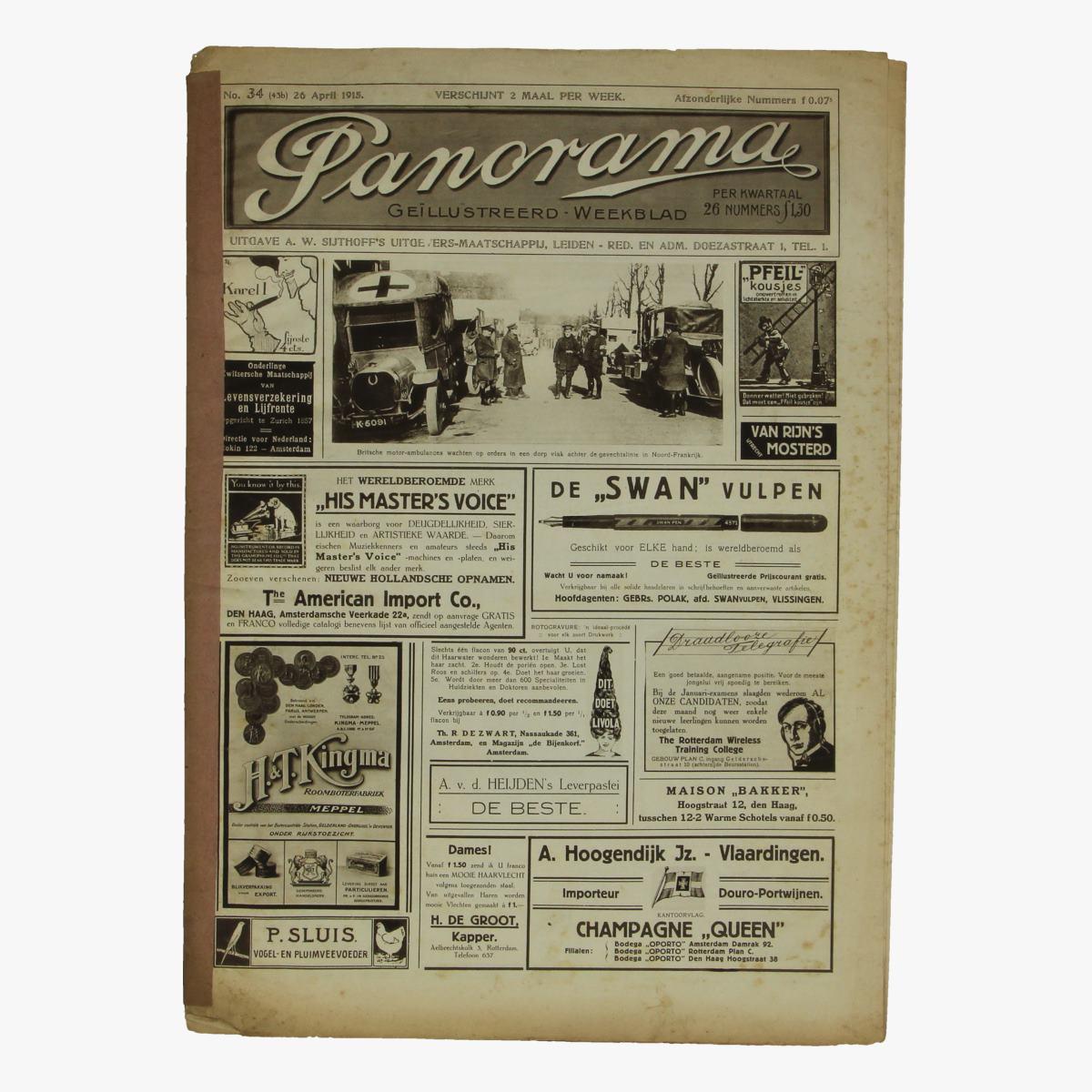 Afbeeldingen van oude weekblad panorama N°34  26 april 1915