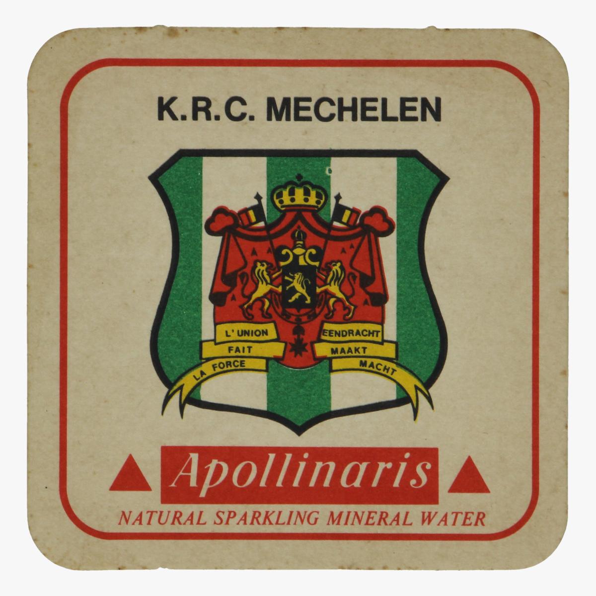 Afbeeldingen van bierkaartje k.r.c.mechelen apollinaris