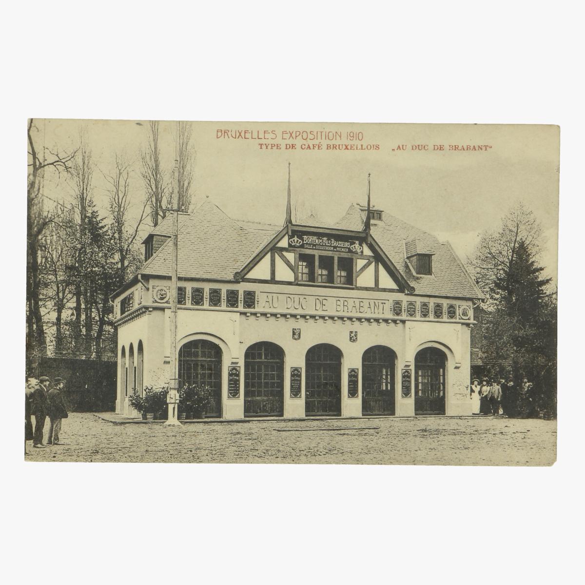 Afbeeldingen van postkaart bruxelles exposition 1910 type de café bruxellois au duc de brabant