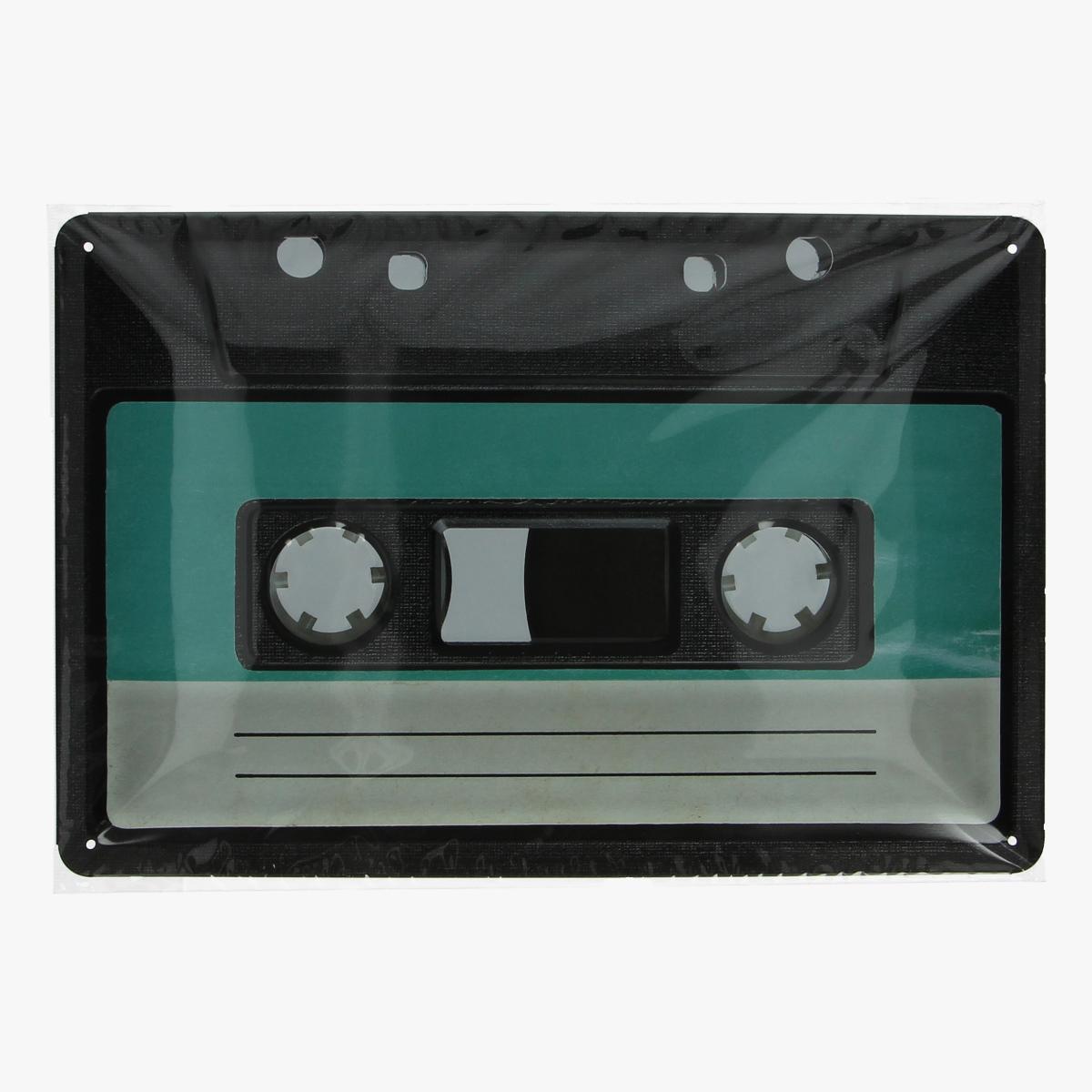 Afbeeldingen van blikken bordje cassette repro geseald