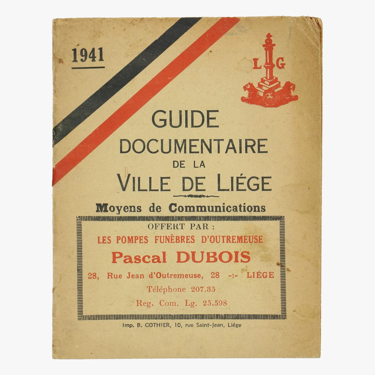 Afbeeldingen van Guide documentaire De la ville de Liege