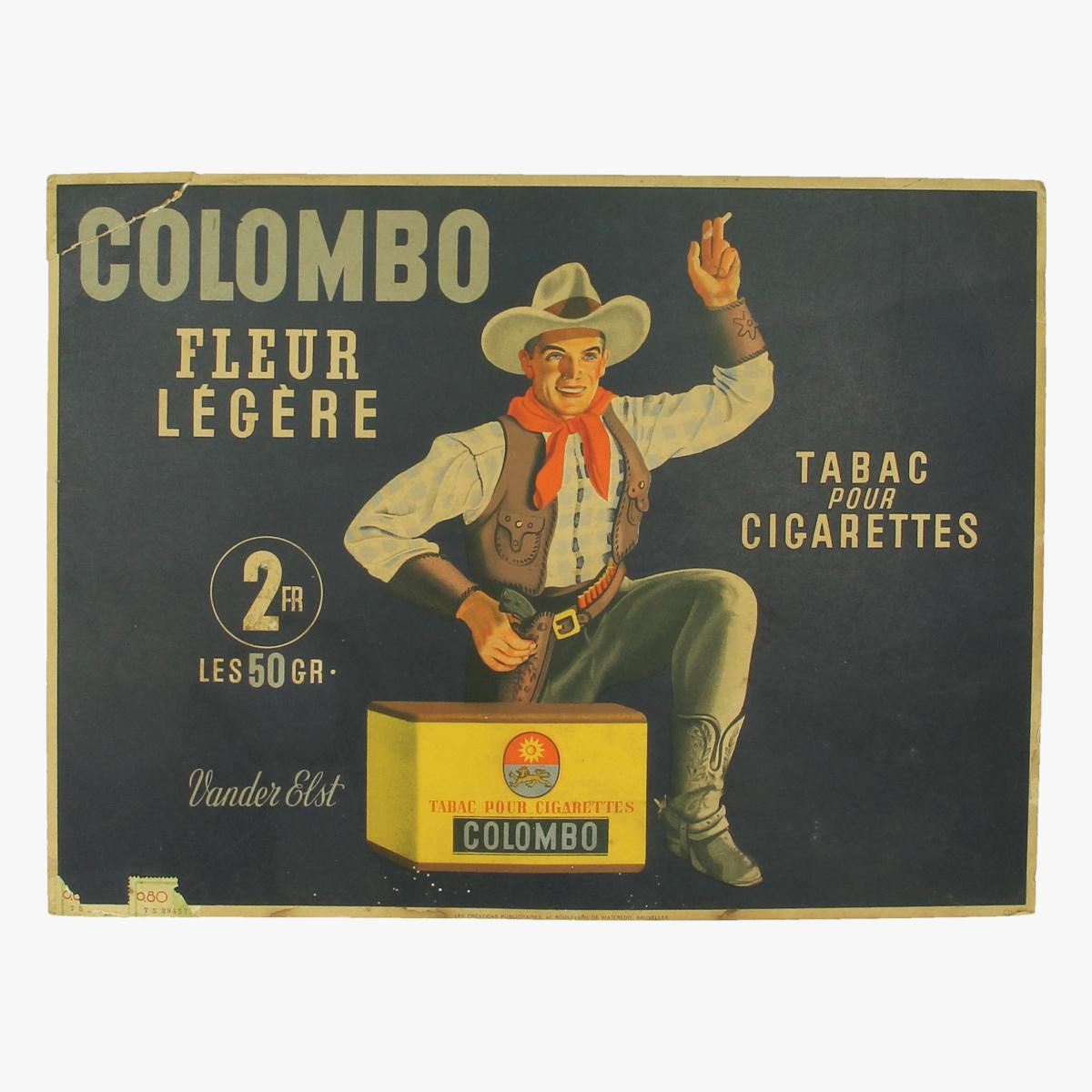 Afbeeldingen van Kartonnen Pancarte Colombo Cigarettes