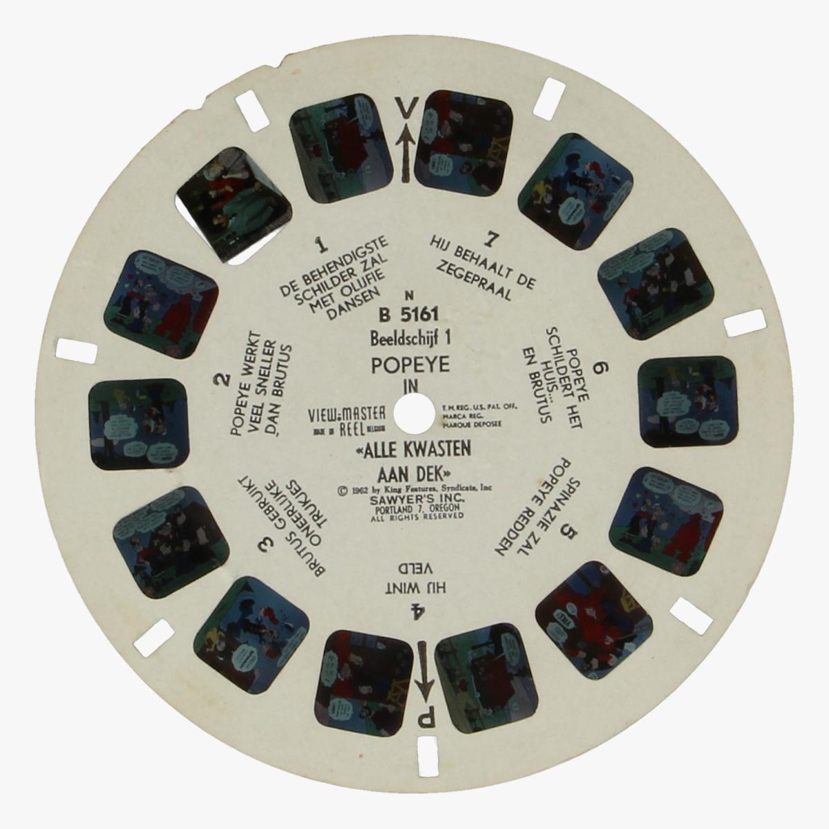 Afbeeldingen van View-Master Popeye. Alle Kwasten aan dek. 1962. Nr. B 5161 Beeldschijf 1