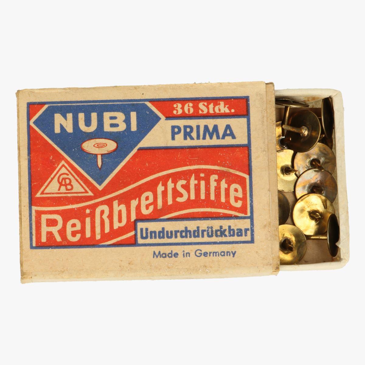 Afbeeldingen van oude doosje punaises nubi made in germany