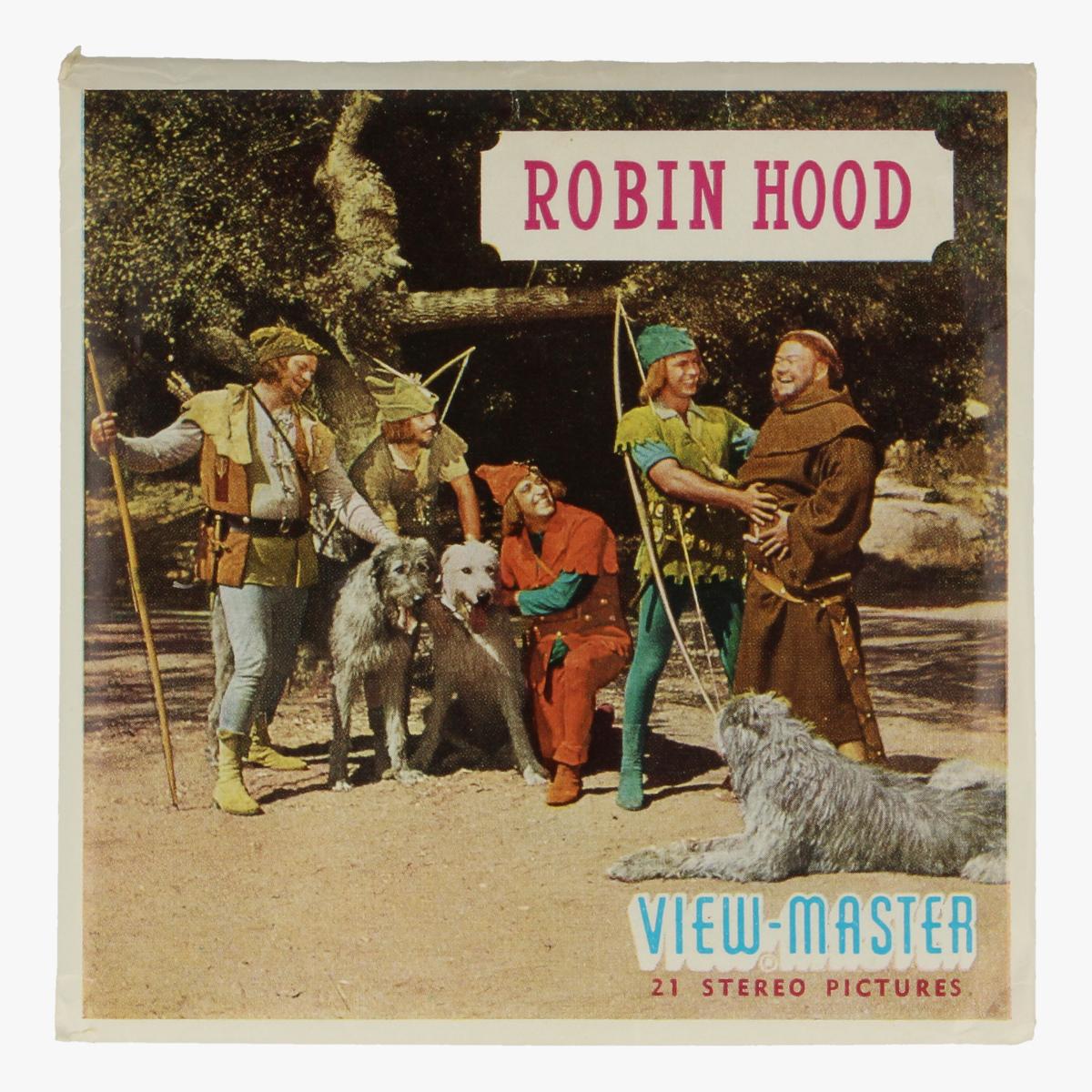 Afbeeldingen van View-master Robin Hood Kleine Jan, verlaat de zwarte ridder, ontmoet broeder tuck