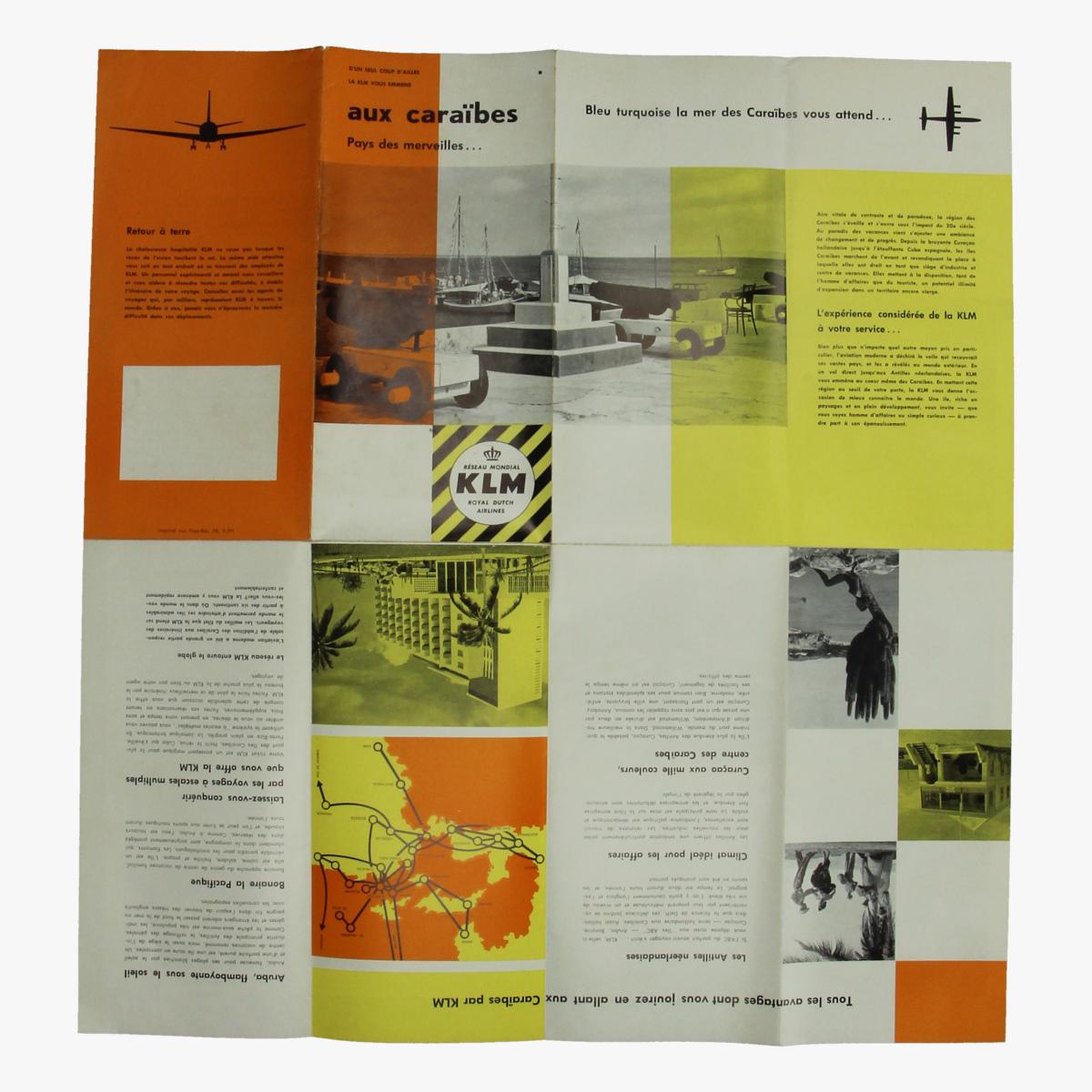 Afbeeldingen van folder klm royal ducht airlines  aux caraïbes