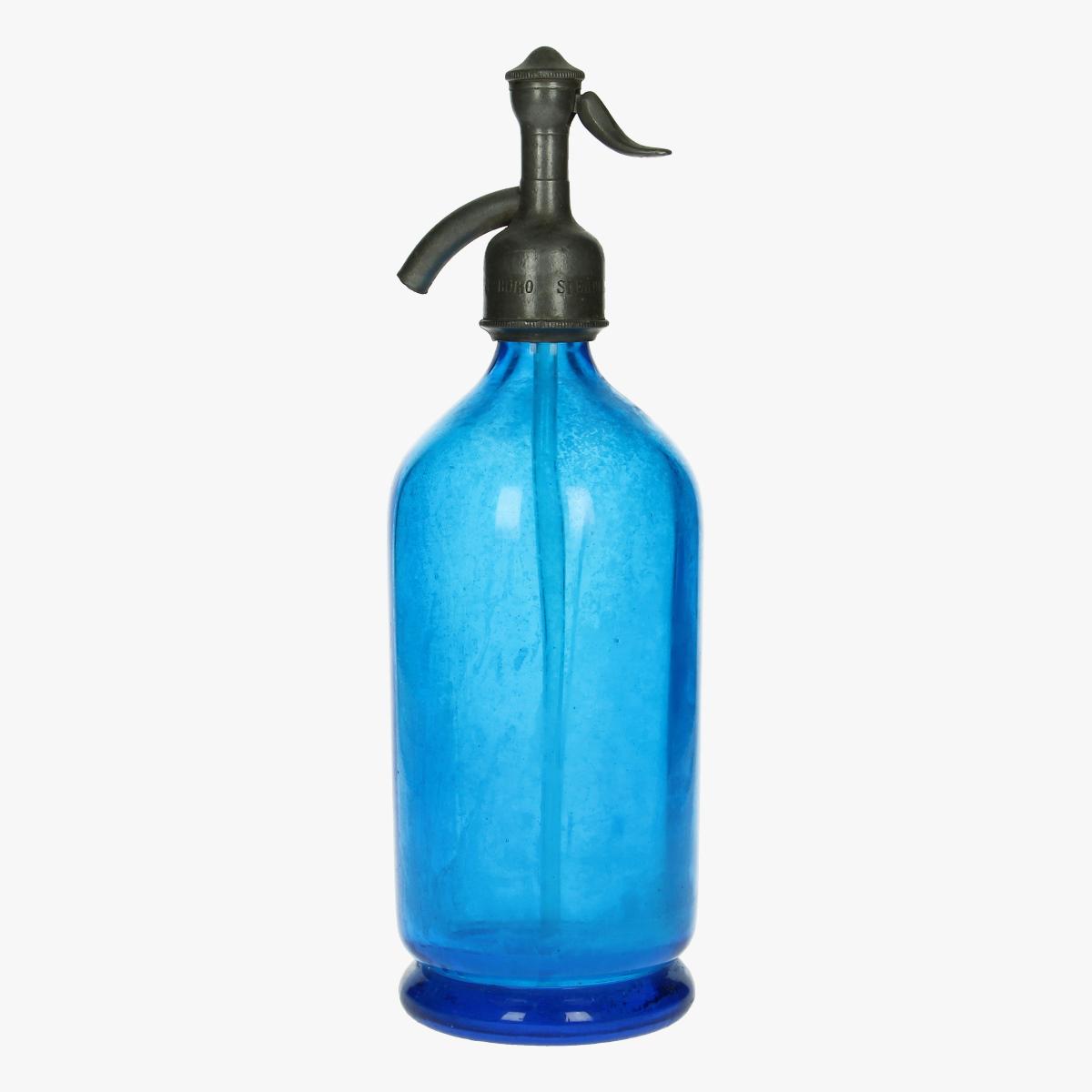 Afbeeldingen van oude soda fles blauw