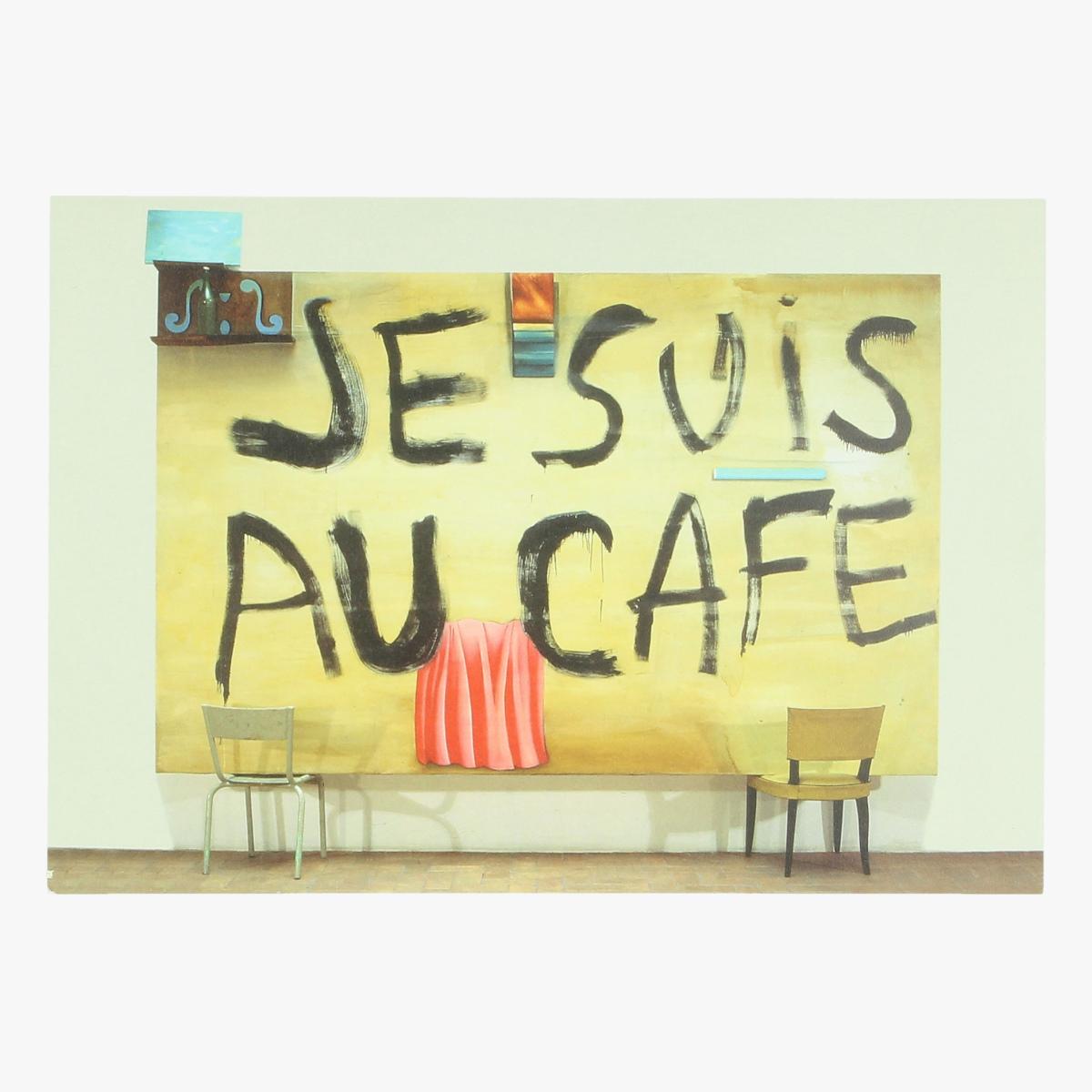 Afbeeldingen van postkaart Je suis au café Carlos Kusnir, 1986 repro