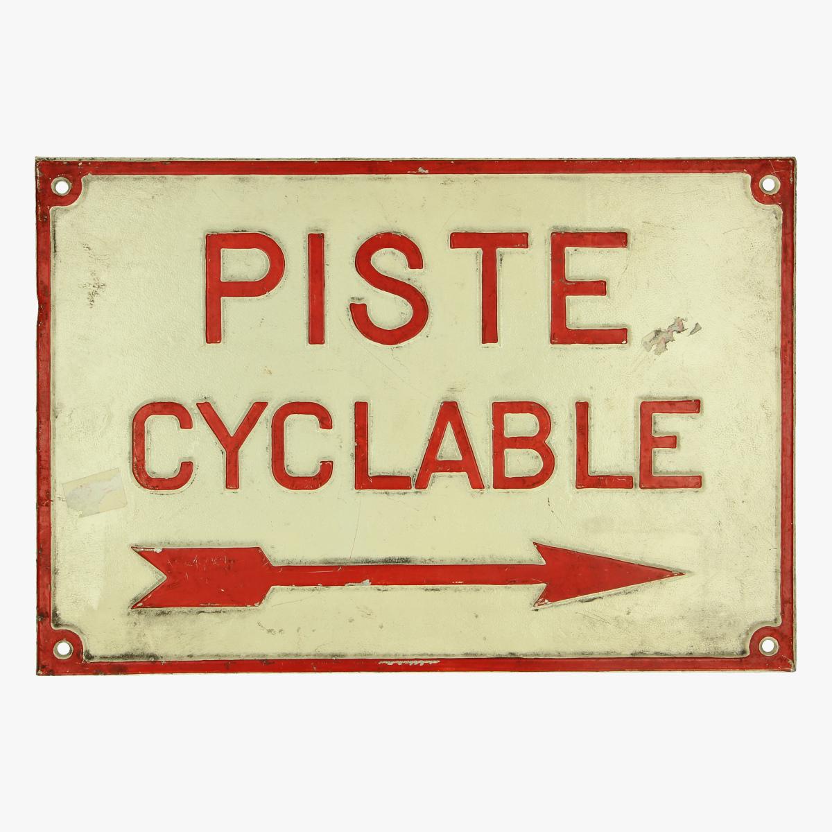 Afbeeldingen van Bord piste cyclable ijzer - wielrennen