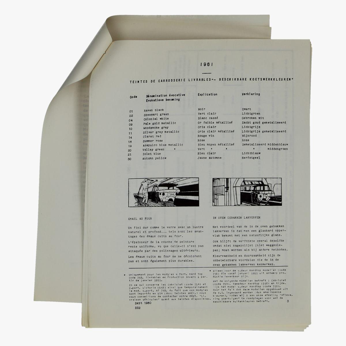 Afbeeldingen van informatie folder mercury 1961