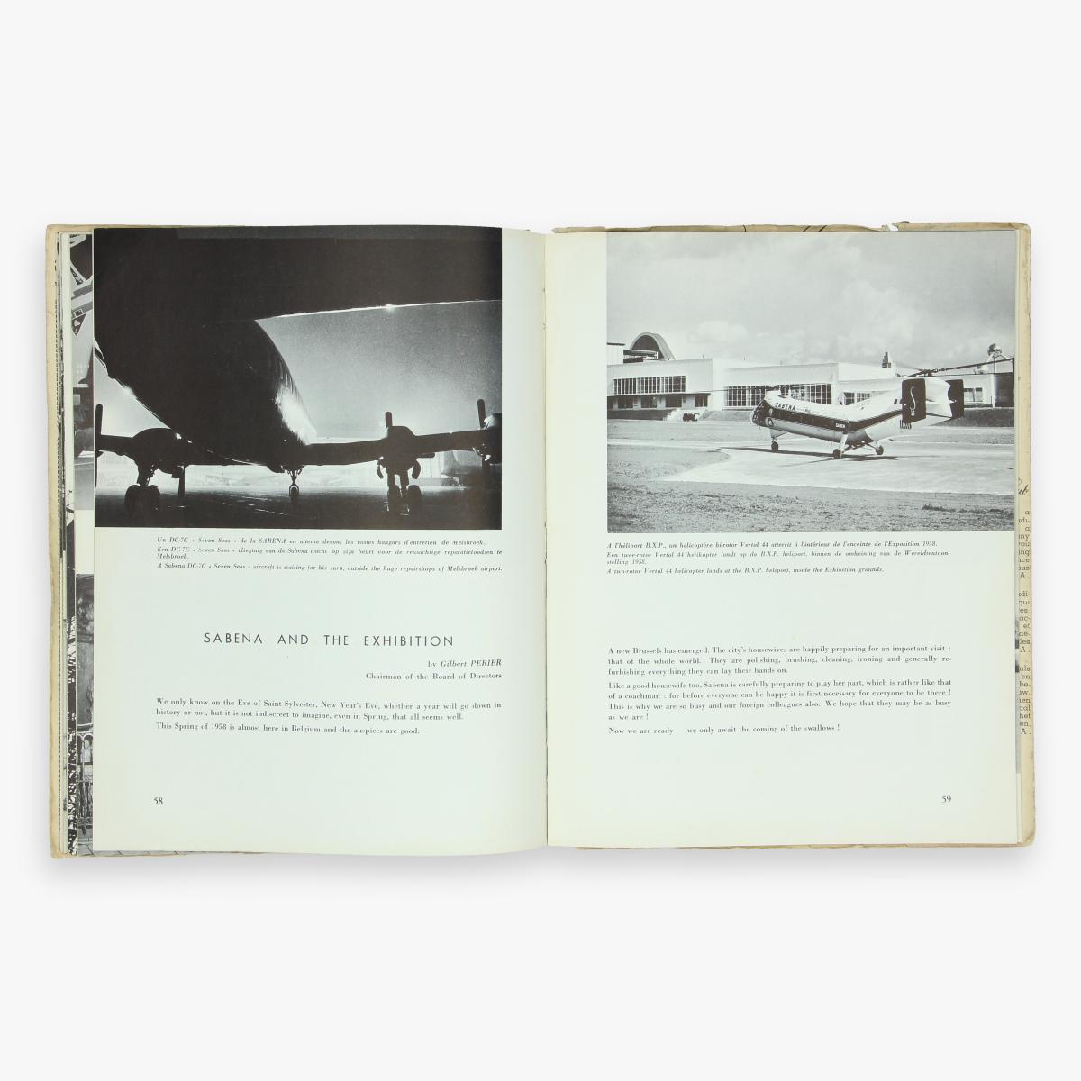 Afbeeldingen van sabena revue 1958 expo 58 magazine ned - franstalig