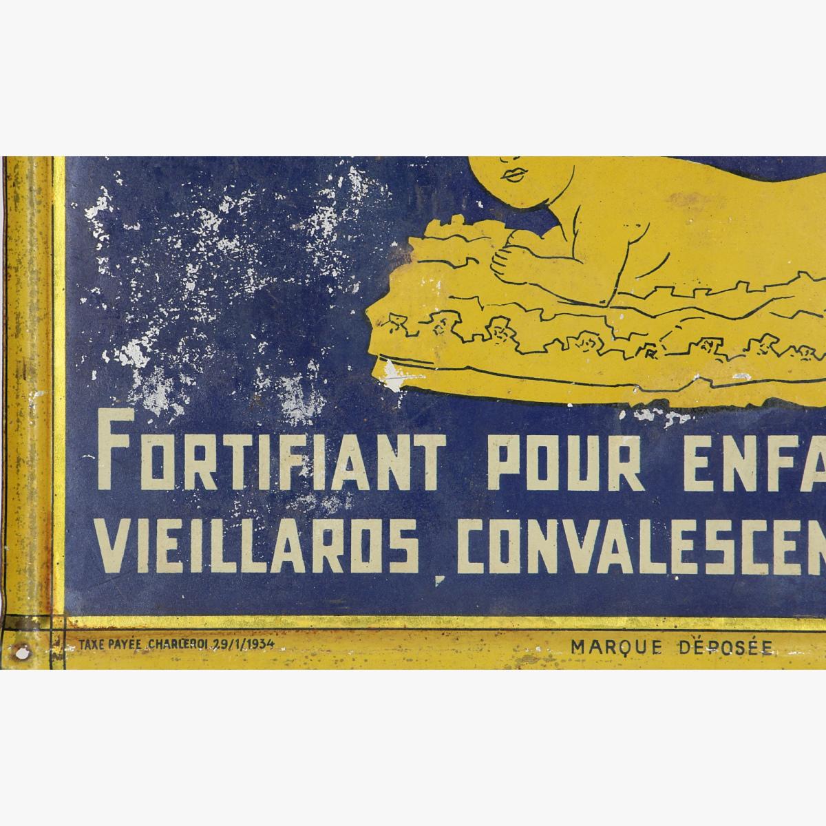 Afbeeldingen van blikken reclame bordje 1934 IRRADIÉE KOLACTINE