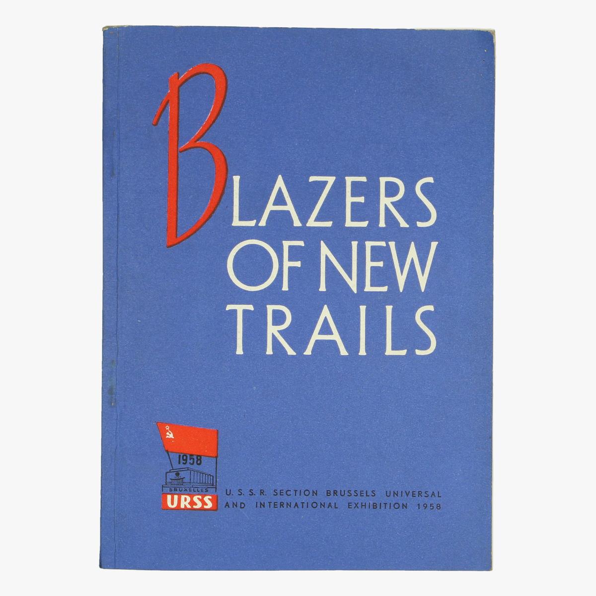 Afbeeldingen van expo 58 boekje Blazes of new trails u.s.s.r section brussels universal and international exhibition 1958