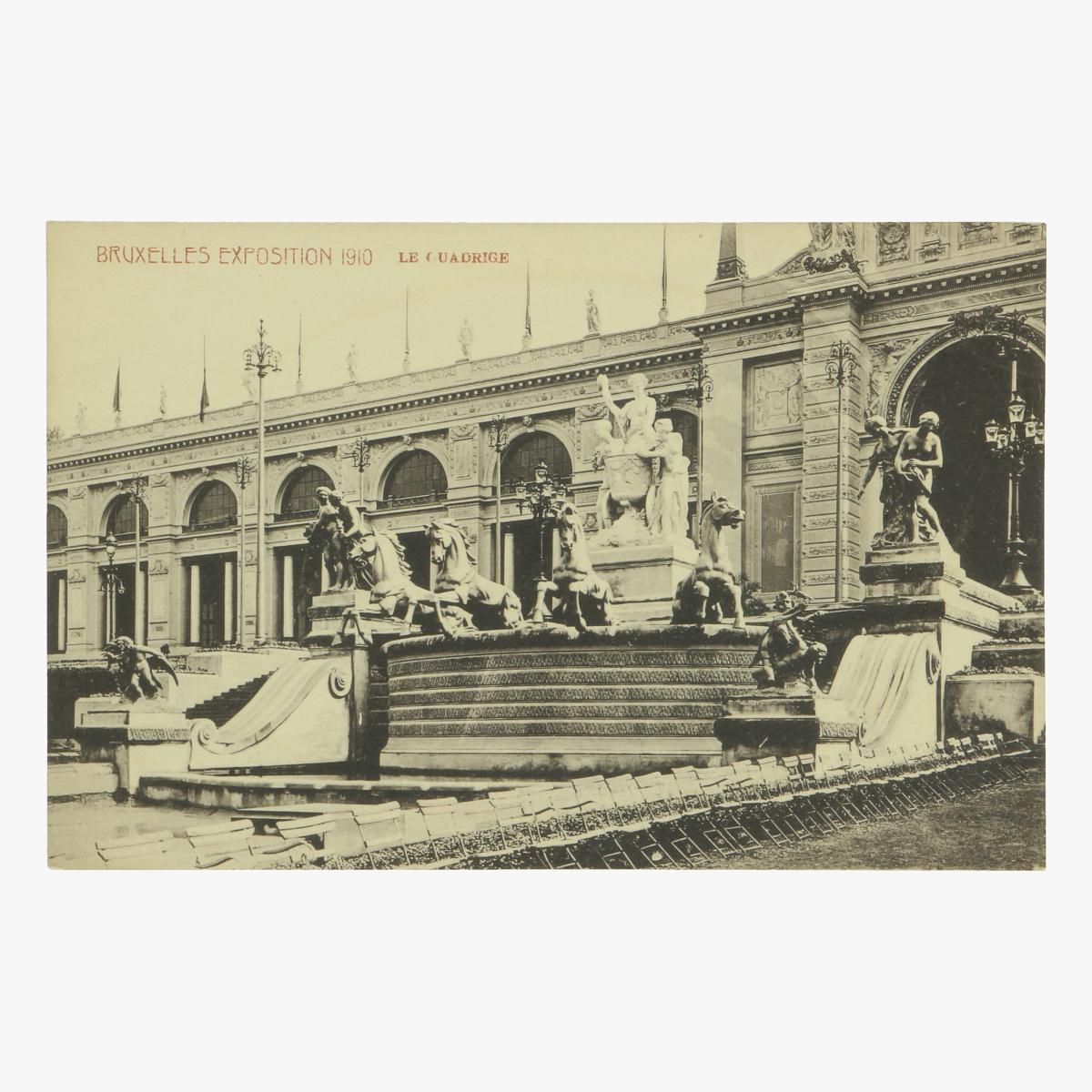 Afbeeldingen van postkaart bruxelles exposition 1910 le quadrige