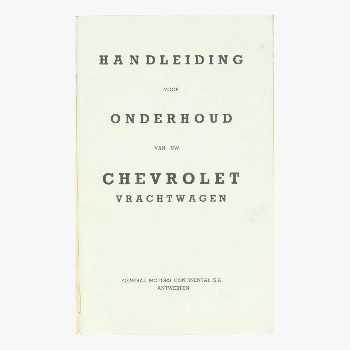 Afbeeldingen van Chevrolet Vrachtwagen. Handleiding. General Motors Continental S.A.