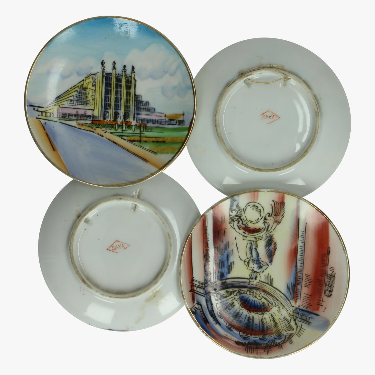 Afbeeldingen van Expo 58 4 herinneringsbordjes
