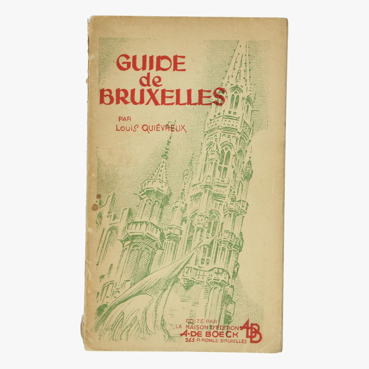 Afbeeldingen van boek guide de bruxelles par louis quiévreux